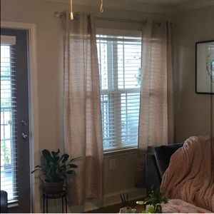 Light Brown Tan Textured Curtains